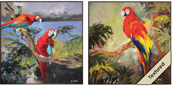 Rooms To Go Parrots at Bay Set of 2 Artwork