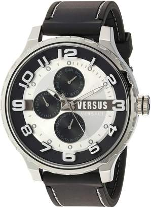 Versus By Versace Men's SBA130015 Globe Analog Display Quartz Black Watch