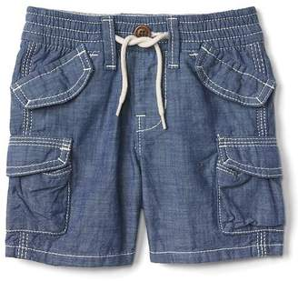 Chambray beachcomber shorts $24.95 thestylecure.com