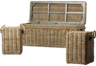 Longshore Tides Roscoe Wicker Storage Entry Bench Longshore Tides