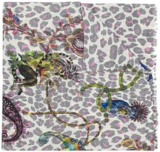 Etro leopard print scarf