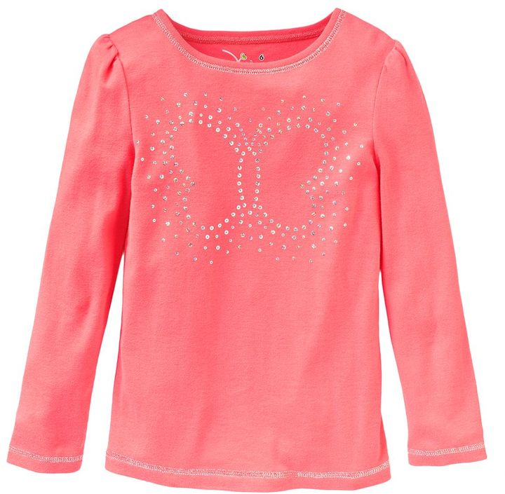 Jumping beans ® butterfly sparkle tee - girls 4-7