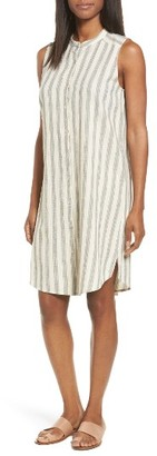 Women's Eileen Fisher Stripe Cotton & Linen Shift Dress $278 thestylecure.com