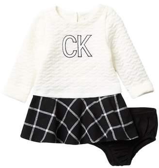 Calvin Klein Plaid Bottom Dress (Baby Girls)