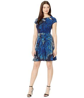 MICHAEL Michael Kors Petani Reef Fit and Flare Dress