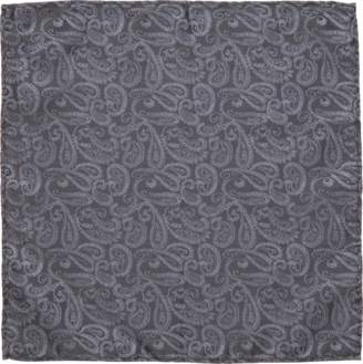 yd. CHARCOAL ROCKY POCKET SQUARE