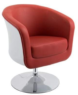 Corliving Modern Bonded Leather Tub Chair