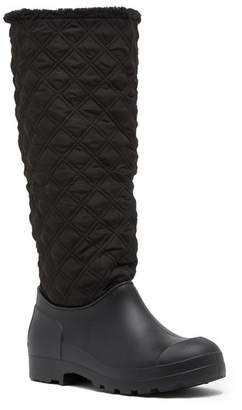 Chinese Laundry Pampered Quilted Duck Toe Faux Fur Boot