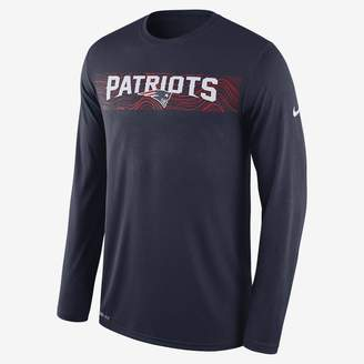 Nike Dri-FIT Legend Seismic (NFL Patriots) Men's Long Sleeve T-Shirt