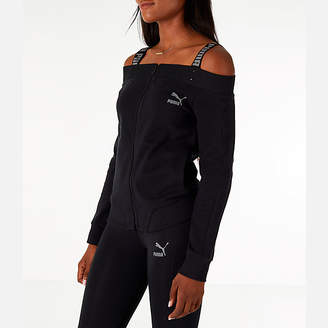 Puma Women's Off The Shoulder T7 Jacket
