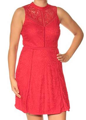 GUESS Women's Mock Neck Lace Dress Insets
