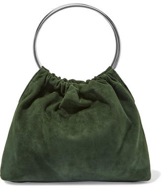 Little Liffner Ring Small Suede Tote - Green