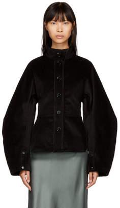 Lemaire Black Large Sleeve Corduroy Jacket