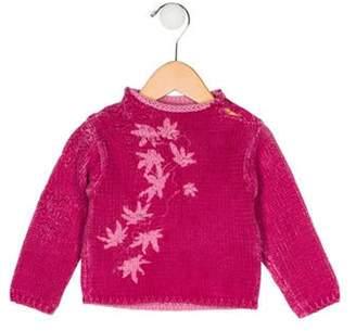 Kenzo Girls' Knit Intarsia Sweater magenta Girls' Knit Intarsia Sweater