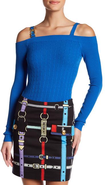 Love MoschinoLOVE Moschino Cold Shoulder Knit Shirt