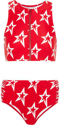 Perfect Moment - Ruched Printed Bikini - Red