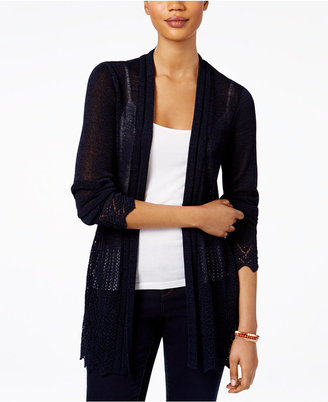 Style & Co Open-Front Pointelle-Knit Cardigan, Only at Macy's $69.50 thestylecure.com