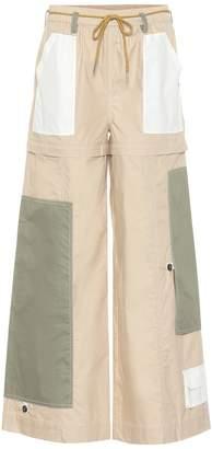Ganni Wide-leg cotton pants