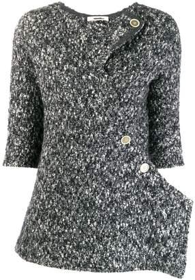 Celine Pre-Owned tweed asymmetric jacket