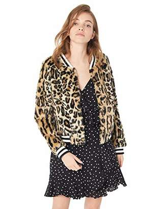 Jack by BB Dakota Junior's Clever Girl Leopard Faux Fur Bomber