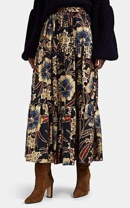 Ulla Johnson Women's Chantal Floral Maxi Skirt - Navy