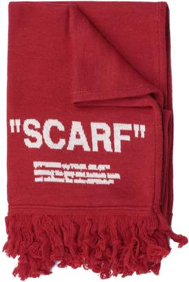 Off-White Off White Quote Scarf