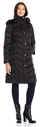 Kenneth Cole Women's Down Coat with Faux-Fur Ruff $109.99 thestylecure.com