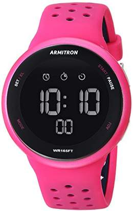 Armitron Sport Unisex 40/8423MAG Navy Blue Accented Digital Chronograph Silicone Strap Watch