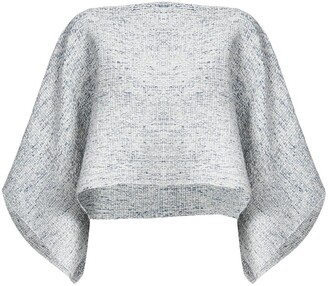 Voz cropped knit top