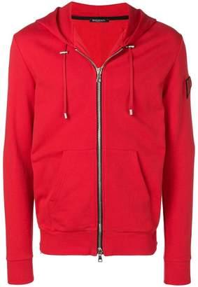 Balmain lips print zipped hoodie