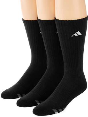 adidas 3-pk. Mens Athletic Cushioned Crew Socks - Extended Size
