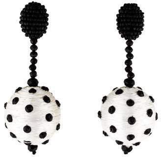 Oscar de la Renta Polka Dot Ball Clip-On Earrings