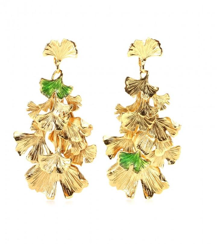 Aurelie Bidermann Tangerine gold-plated earrings