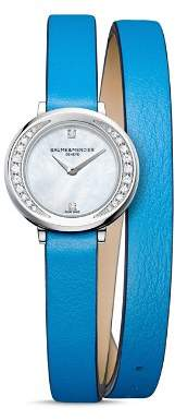 Baume & Mercier Petite Promesse Diamond Double Wrap Watch, 22mm