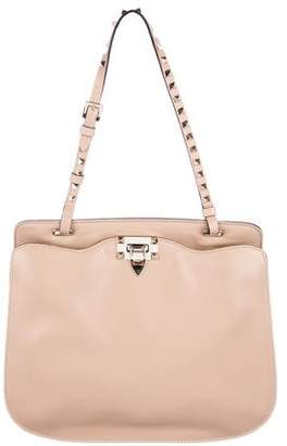 3a780fe62d0c Pre-Owned at TheRealReal Valentino Rockstud Flat Shoulder Bag