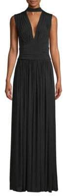 BCBGMAXAZRIA Ruched Evening Gown