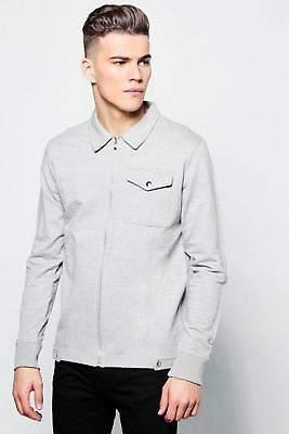 Jersey Utility Harrington Jacket in Grey größe L