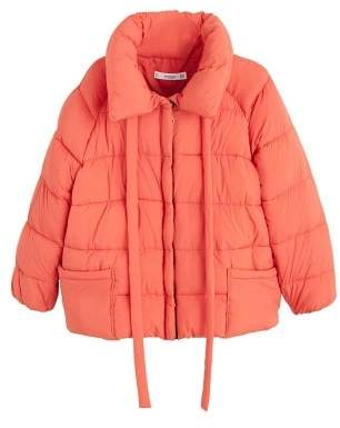MANGO Water-repellent quilted coat