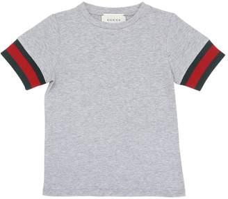 Gucci Cotton Jersey T-Shirt W/ Web Detail