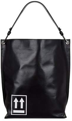 Off-White Leather Arrow Tote Bag