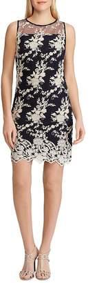 Ralph Lauren Lace-Embroidery Sheath Dress