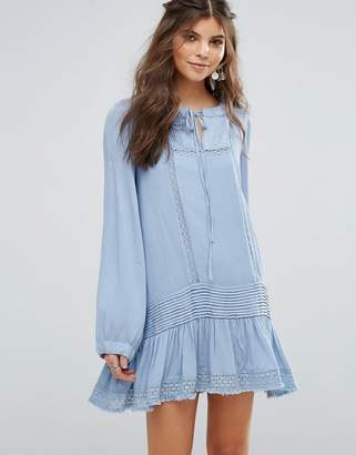 Somedays Lovin Eldora Festival Smock Dress With Frill Hem