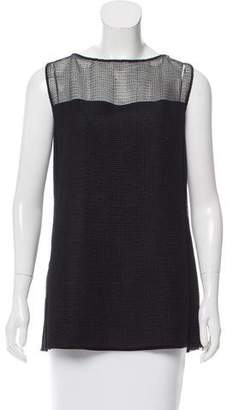Akris Sleeveless Mesh-Accented Top w/ Tags