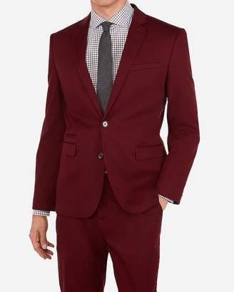 Express Slim Chianti Cotton Blend Performance Stretch Suit Jacket