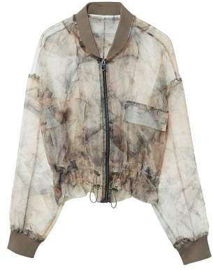 MANGO Sheer printed jacket