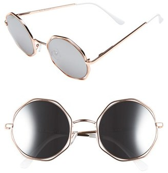 Women's A.j. Morgan 'Clayton' 48Mm Octagon Wire Sunglasses - Gold $24 thestylecure.com