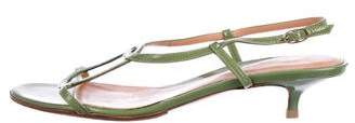 Sergio Rossi Patent Leather Slingback Sandals