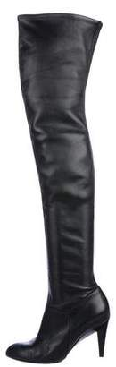 Saint Laurent Leather Thigh-High Boots