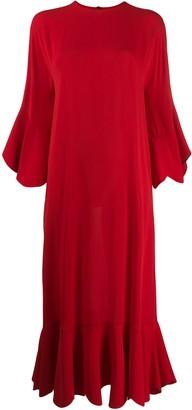 Valentino scalloped hem long dress
