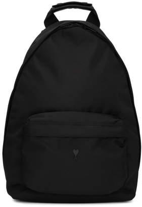 Ami Alexandre Mattiussi Black Ami de Coeur Backpack